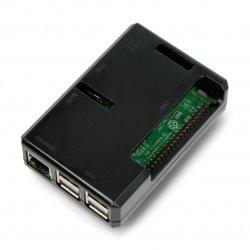 Pouzdro Cube Raspberry Pi Model 3B + / 3B / 2B - černé