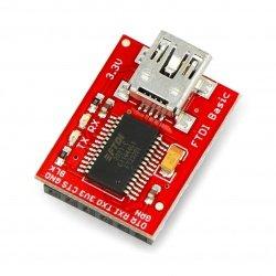 Převodník USB-UART FTDI 3,3 V miniUSB - SparkFun DEV-09873