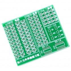 Univerzální deska pro učení pájení SMD součástek
