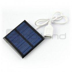 Solární článek 1W / 5,5V 95x95x3mm USB