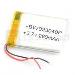 Baterie Li-Poly 280 mAh 3.7