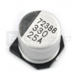 330uF / 25V SMD elektrolytický kondenzátor