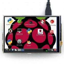 "IPS odporová dotyková obrazovka LCD 4 ""320x240px GPIO pro Raspberry Pi 2 / B +"