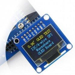 """OLED displej, dvoubarevný grafický 0,96 """"128x64px SPI / I2C - jednoduché konektory"""