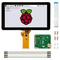 """7 """"kapacitní dotyková obrazovka DSI s rozlišením 800x480px pro Raspberry Pi"""