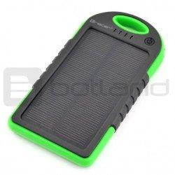 PowerBank Tracer Solární mobilní baterie Zelená 5000mAh