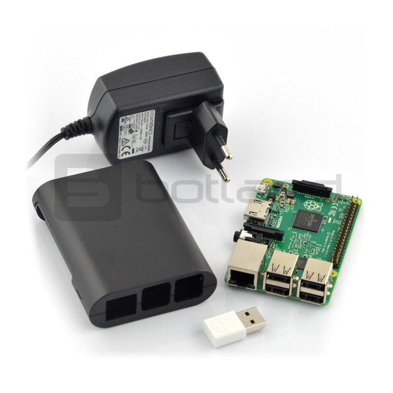 Sada Raspberry Pi 2 model B WiFi Lite Black