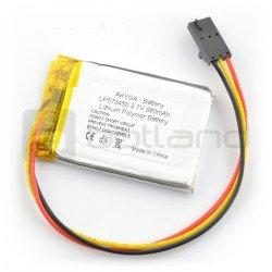 Baterie Akyga 980mAh 1S 3,7 V Li-Pol - zásuvka, 3kolíkový rozteč 2,54 mm