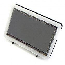 Pouzdro pro Raspberry Pi a TFT 7 '' HDMI LCD displej - černobílé