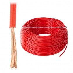 Instalační kabel LgY 1x0,5 H05V-K - červený - 1m