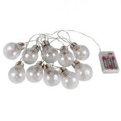 LED girlanda - ve tvaru hvězdy - žárovky