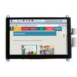 5 '' (H) 800x480px HDMI + USB kapacitní dotyková obrazovka TFT 2.1 pro Raspberry Pi 3B + / 3B / 2B / Zero