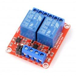 Dvoukanálový reléový modul H / L s optoelektronickým oddělením 5V 10A / 125VAC