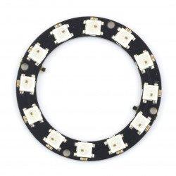 RGB LED prsten WS2812 5050 x 12 LED - 50 mm