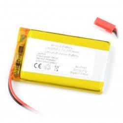 Baterie Akyga 1350mAh 1S 3,7 V Li-Pol - konektor JST-BEC + zásuvka