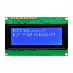 LCD displej 4x20 znaků modrý