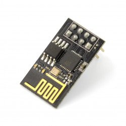 WiFi modul ESP-01 ESP8266 - 3 GPIO, PCB anténa - BLAC