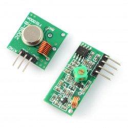 Rádiový modul vysílač FS100A + přijímač 433 MHz