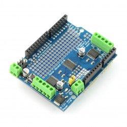 L293D - ovladač stejnosměrného, krokového a servomotoru - 12V / 1,2A - štít pro Arduino