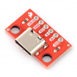 USB typ C 6 pin - konektor pro nepájivé pole - SparkFun