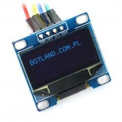OLED displej, modrá grafika, 0,96 '' 128x64px I2C