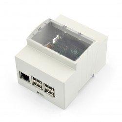 Pouzdro Raspberry Pi Model 2B / B + / A na DIN lištu