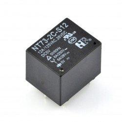 Relé NT73-2C-S12 - 5V cívka, 2x 12A / 125VAC kontakty