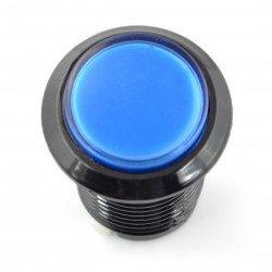 Arkádové tlačítko 3,3 cm - černé s modrým podsvícením