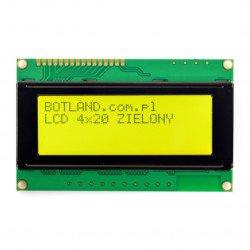 LCD displej 4x20 znaků zelený