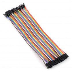 Sada propojovacích kabelů - samice-samice 20cm - 40ks