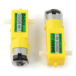 Stejnosměrný motor Dagu DG01D 48: 1 4,5 V s dvojitou hřídelí -