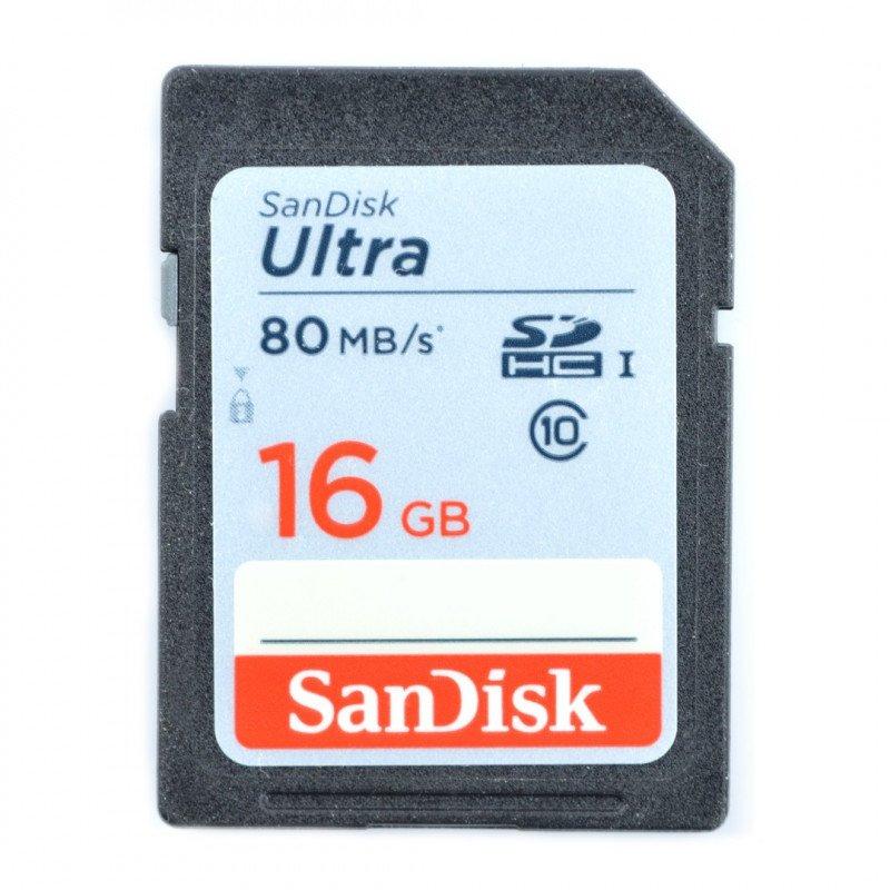 Paměťová karta SanDisk Ultra SD / SDHC 16 GB 533x UHS-I třídy 10