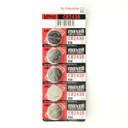 Maxell CR2430 3V baterie - 5 ks