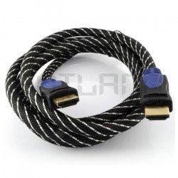 Kabel HDMI EB-113 třída 1.4 Esperanza - 3,0 m dlouhý s opletením