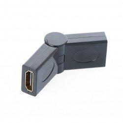 Úhlový, nefunkční adaptér HDMI - zásuvka