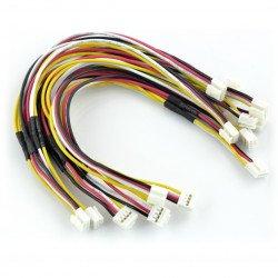 Sada 5 4kolíkových kabelů Grove female-female - rozvětvená