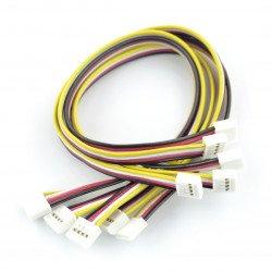 Sada 5 4kolíkových kabelů Grove female-female - 20 cm