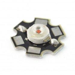 1 W IR Power LED Star - infračervené 850 nm s chladičem