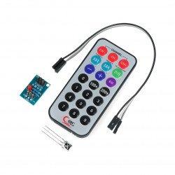 IR dálkový NEC 38kHz + IR přijímač 1838T + modul a kabely