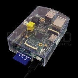 Pouzdro Raspberry Pi Model B RS - průhledné