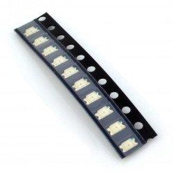 LED dioda smd 1206 červená - 10 ks.