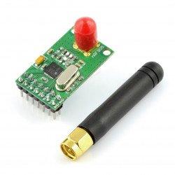 Rádiový modul nRF905 433/898/915 MHz - transceiver THT s anténou