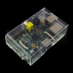 Pouzdro Raspberry Pi Model B Multicomp Farnell - průhledné