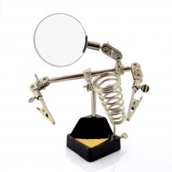 Montážní konzola s lupou a stojanem na páječku - ZD10G třetí ruka