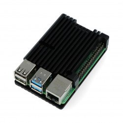 Pouzdro pro Raspberry Pi 4B - hliník - černé