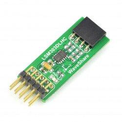 LSM303DLHC - tříosý akcelerometr I2C a magnetometr - modul Waveshare *