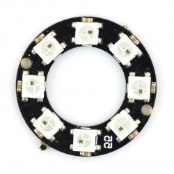 RGB LED prsten WS2812 5050 x 8 LED - 32 mm