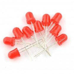 LED 8 mm červená - 10 ks