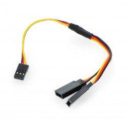"""Rozdělovač kabelů pro serva """"Y"""" - 15 cm (JR)"""