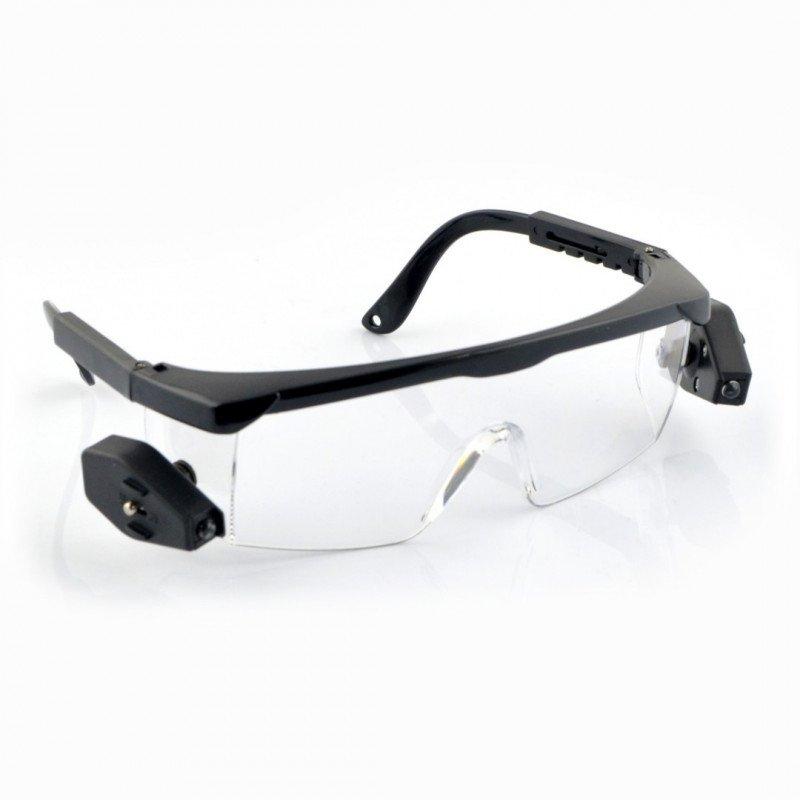 Podsvícené ochranné brýle